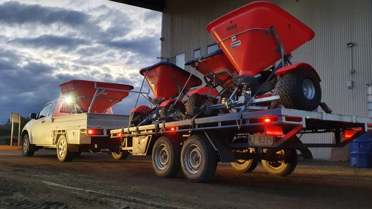 A brand new fleet of shiny red spreaders has arrived! 🤩 image