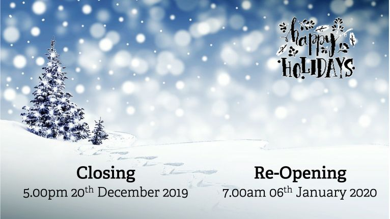 2019-20 Christmas Closing Hours image
