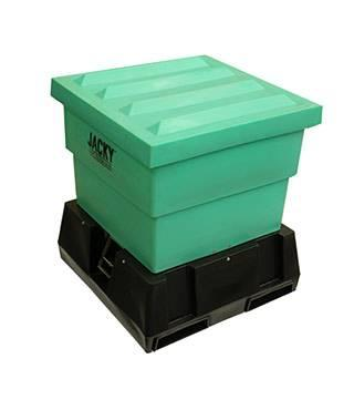 w5-05 — Jacky Bin Centre Discharge Hopper - Poly Base
