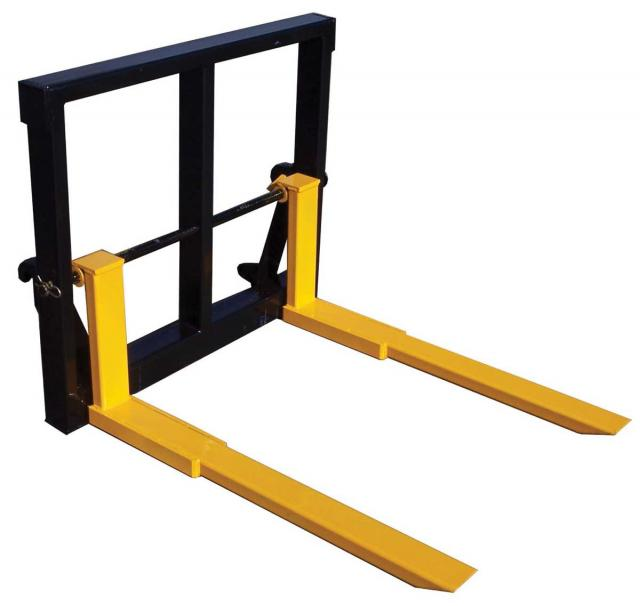 w9-08 — Front End Loader Adjustable Pallet Fork